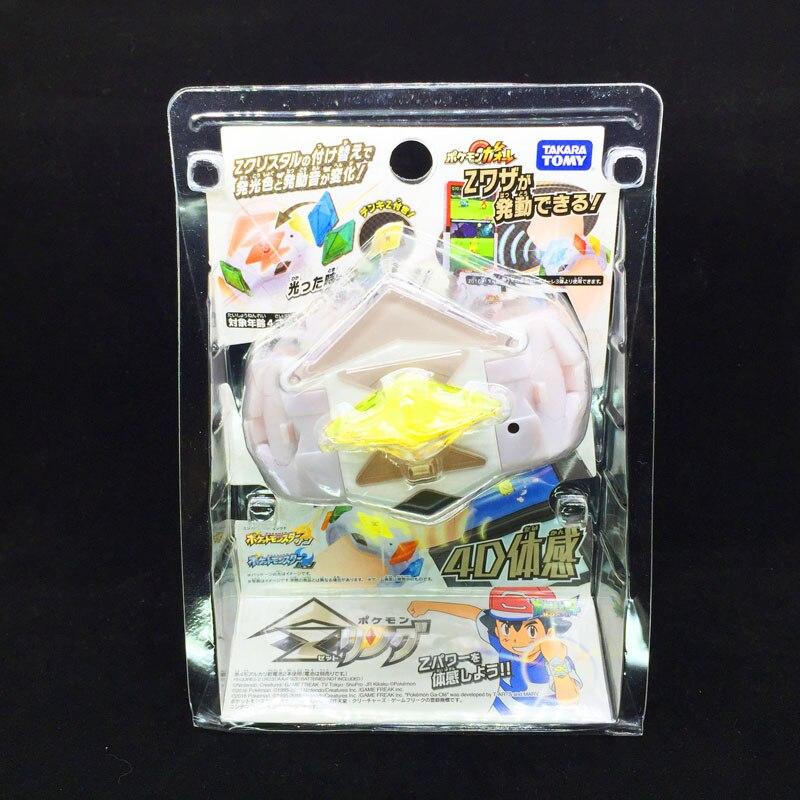3 Styles TOMY Pokemon Action Figure Model Sun Moon Game Linkage 4D Somatosensory Z Bracelet Z Crystal Kids Christmas Gift Toys
