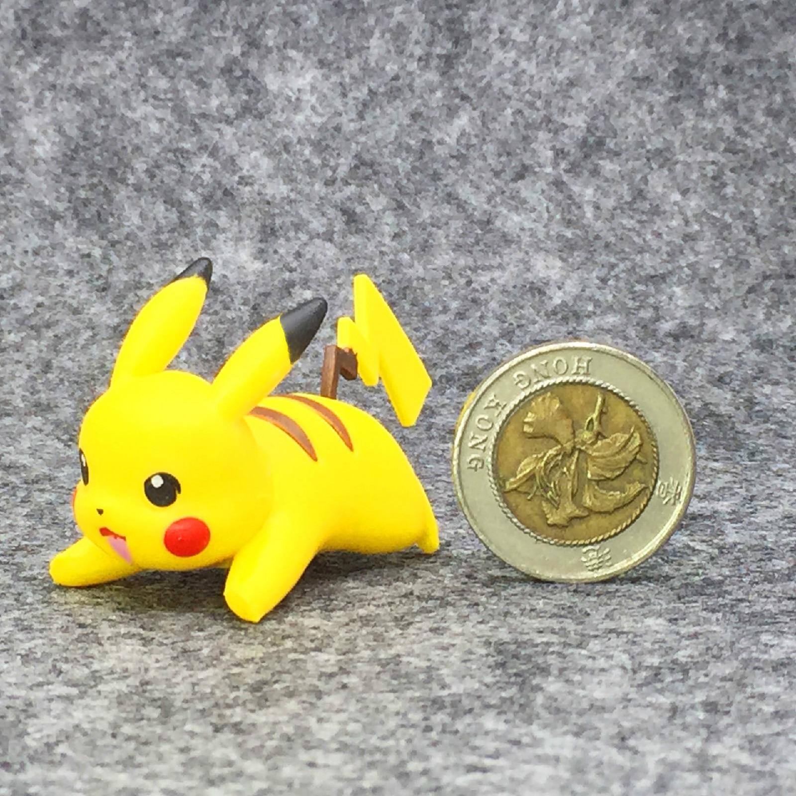 TAKARA TOMY Pokemon 4-6cm Charmander Popplio Litten Pikachu Rowlet Treecko Eevee Fennekin Greninja Anime Action Figure Dolls Toy