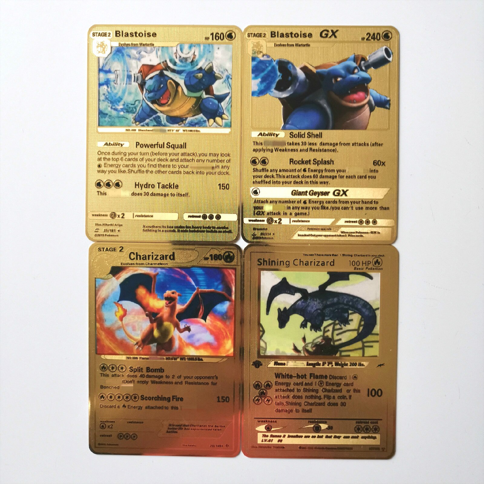 27 Styles Pokemon GX MEGA Gold Metal Card Super Game Collection Anime Cards Game Toys For Children Christmas gift