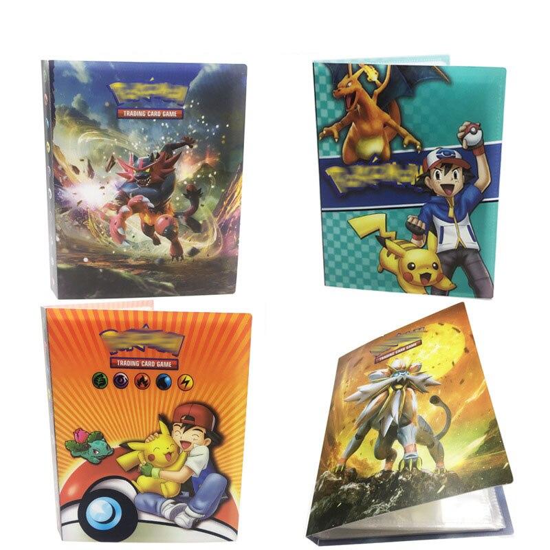 Takara Tomy Pokemon Characters Card Album Book Pikachu Cartoon Collection Game Card Birthday Chirstmas Gift 240 Pcs cards