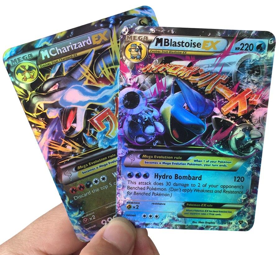 Takara Tomy Pokemon Shining Cards 100/200/300pcs GX MEGA Game Battle pokemon Cards Game Kids Birthday Gift