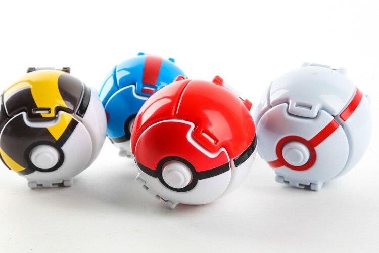 Takara Tomy Pokemon Pikachu Pokeball Automatically Bounce Anime Action Figures Toys Creative Children's Birthday Gift