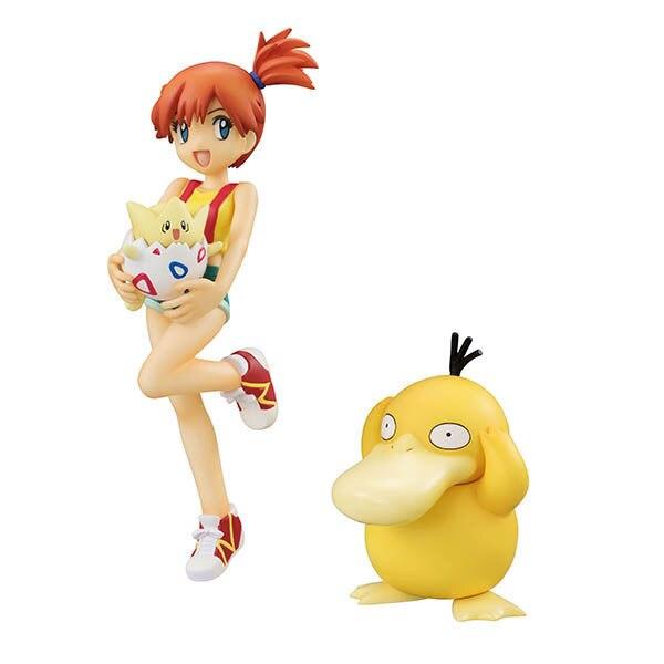 Takara Tomy Pokemon toys Ash Ketchum Pikachu Misty Psyduck Togepi Action Figure Toys Model Toys For Children Birthday Gift