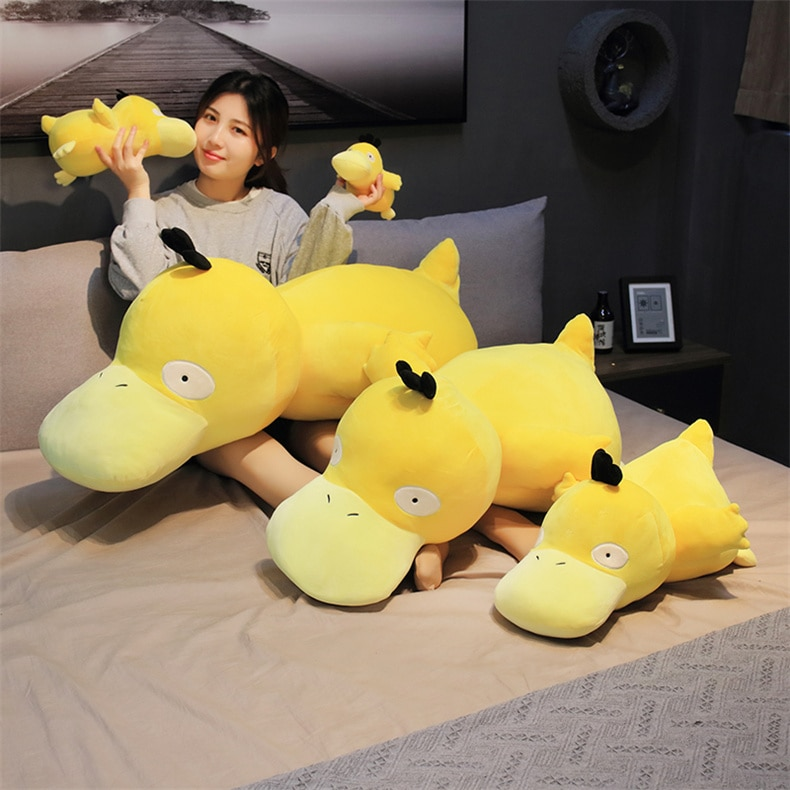 Big size Pikachu Psyduck plush toys cute Cartoon duck Stuffed doll soft Pillow for Children kids birthday present