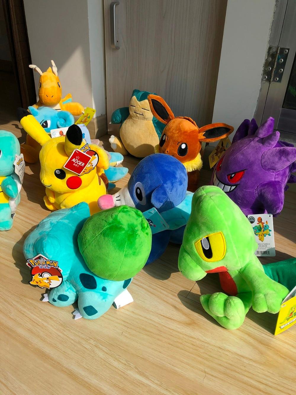 Pikachu Eevee Charmander Squirtle Bulbasaur anime stuffed plush doll Snorlax Mew Lapras Dragonite cute plush toy Kids gifts
