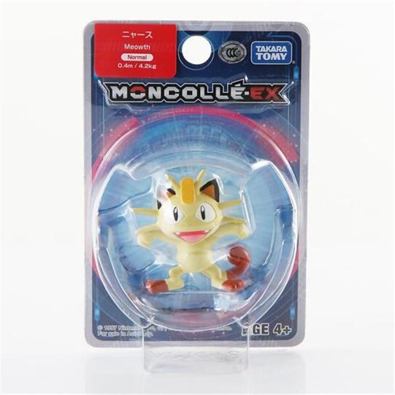 Original Takara tomy 4-6cm pokemones figures pikachued Anime Action Figure Dolls Toy