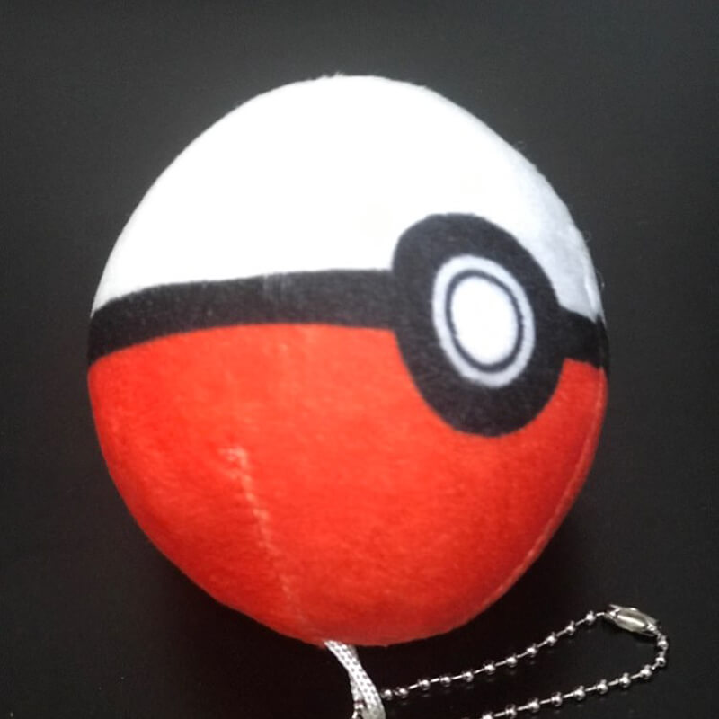 keychain plush ball-1