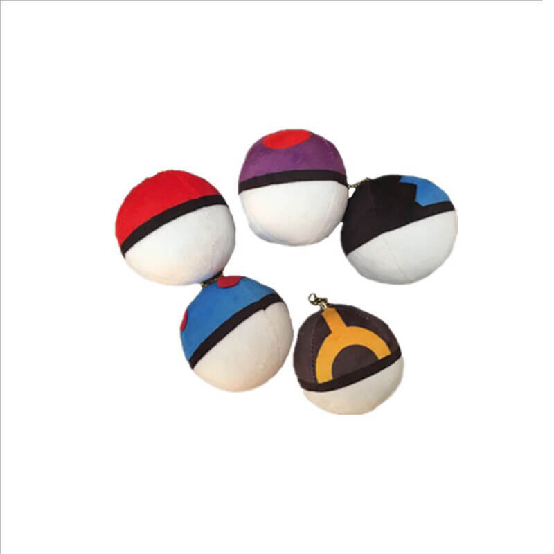 keychain plush ball-2
